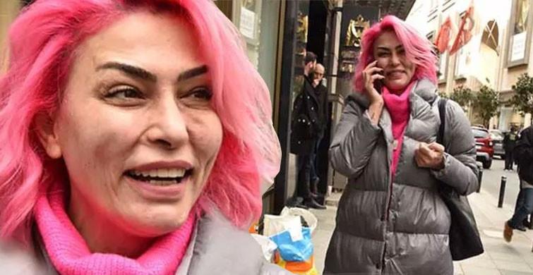 Leyla Bilginel Pembe Saçlarıyla Dikkat Çekti