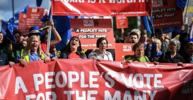 Londra'da Protesto: Halk Referandum Çağrısı Yapıyor