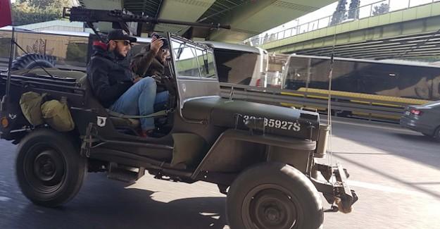 Maket Uçaksavarlı Cip Trafikten Uzaklaştırıldı!