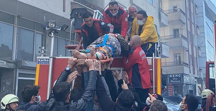 Mersin'de 5 Katlı Apartmanda Korkutan Yangın