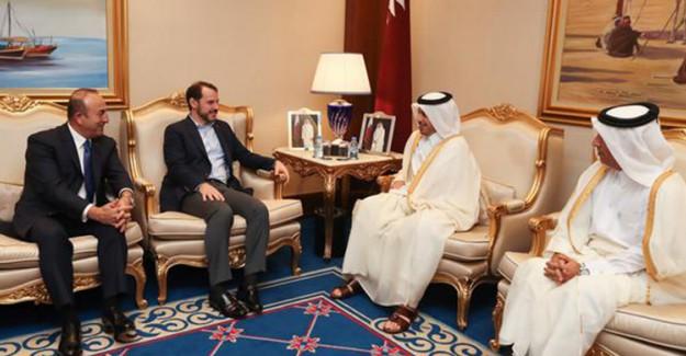 Mevlüt Çavuşoğlu ve Berat Albayrak Katarlı Bakanlarla Buluştu