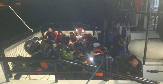 MSB'den Açıklama! Müsellim Geçidi'nde 40 Düzensiz Göçmen Kurtarıldı!