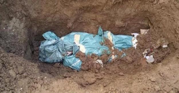 Ölen Teröristleri Naylona Sarıp Gizlice Gömüyorlar