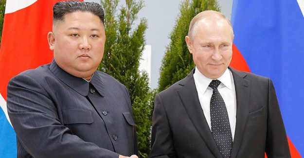 Putin ile Kuzey Kore Devlet Başkanı Kim Bir Araya Geldi