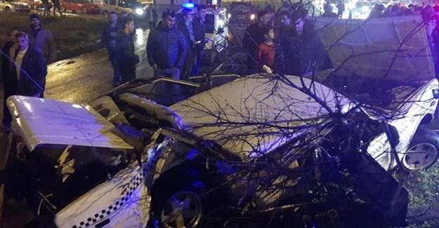 Samsun'da Trafik Kazası! 2 Yaralı