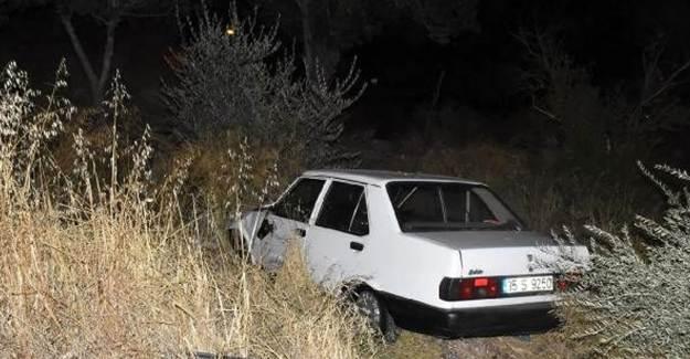 Şoförünün Yarıştığı Öne Sürülen Araç, Boş Araziye Uçtu