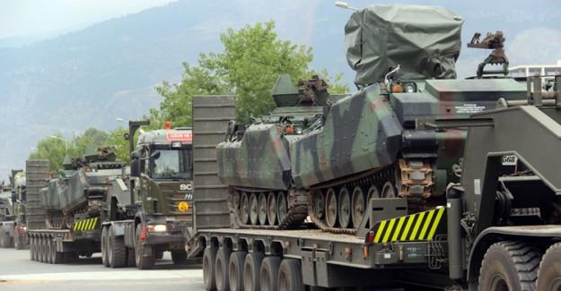 Suriye Sınırına Tank Ve Zırhlı Araç Sevkiyatı Gerçekleştiriliyor!