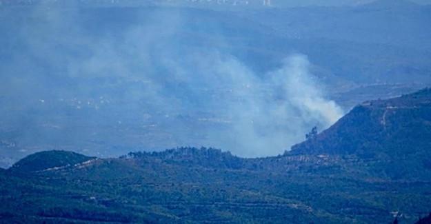 Suriye Sınırında Yangın Çıktı