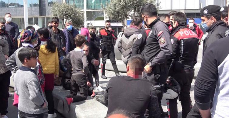 Taksim'de İranlı Turist İle Seyyar Satıcılar Arasında Arbede Yaşandı