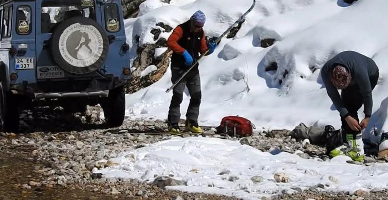 Terörden Temizlenen Munzur Dağı'nda Kayak Keyfi