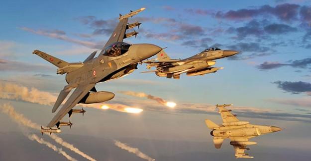 TSK Afrin'de PYD Mevizilerini Bombaladı!