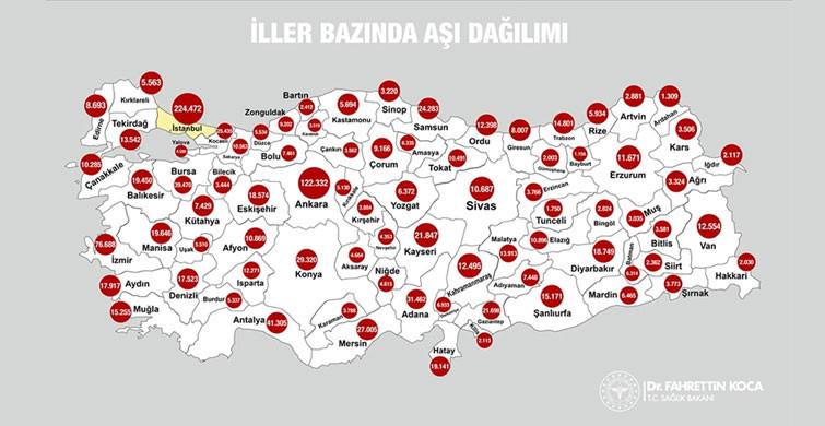Türkiye'de 1,2 Milyondan Fazla Kişiye Aşı Uygulandı