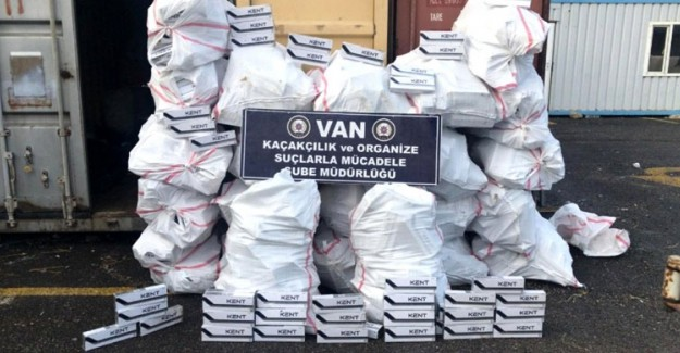 Van'da Bir Ayda 189 Bin Adet Paket Kaçak Sigara Yakalandı