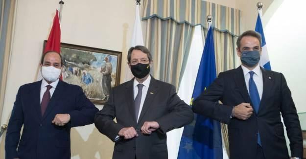 Yunanistan, GKRY ve Mısır Liderleri Türkiye'yi Kınadı
