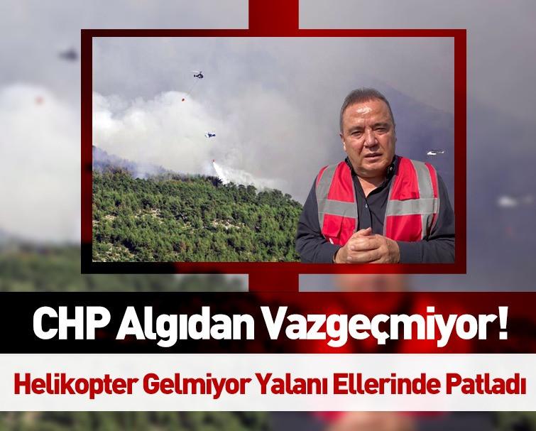 CHP'li Muhittin Böcek'in Yangın Bölgesi Gündoğmuş'a 'Helikopter Gelmedi' Yalanı Asılsız Çıktı