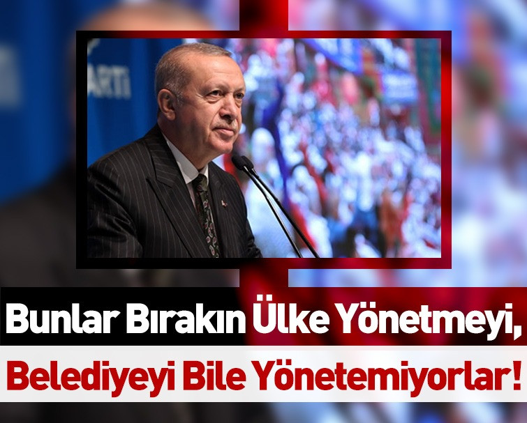 Cumhurbaşkanı Erdoğan'dan Muhalefete Sert Çıkış!