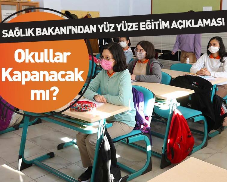 Okullar Kapanıyor Mu? Fahrettin Koca'dan Yüz Yüze Eğitim Açıklaması!