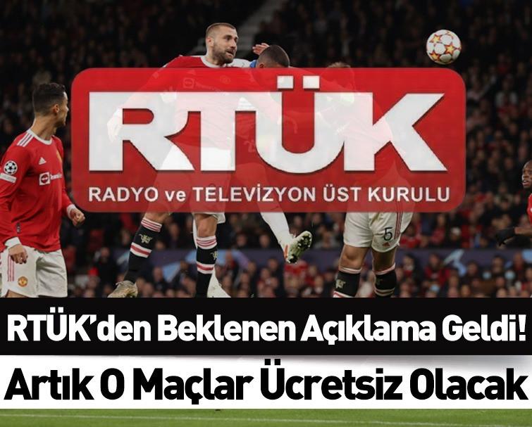 RTÜK'den, Şifresiz Kanalda Yayınlanacak Spor ve Kültür Olayları İle İlgili Önemli Karar Geldi!