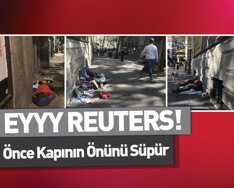 Sokakta Yaşayan İngilizler! Türkiye'yi Kötü Göstermek İçin Fotoğraf Arayan Reuters Al Bunları Manşetine Taşı