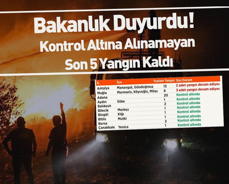 Tarım ve Orman Bakanı Açıkladı; '112 Orman Yangınının 107'si Kontrol Altında'
