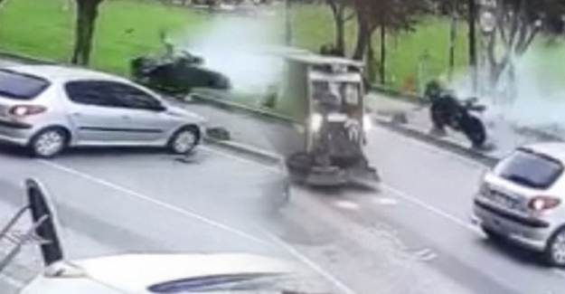 Beykoz'da Feci Motosiklet Kazası