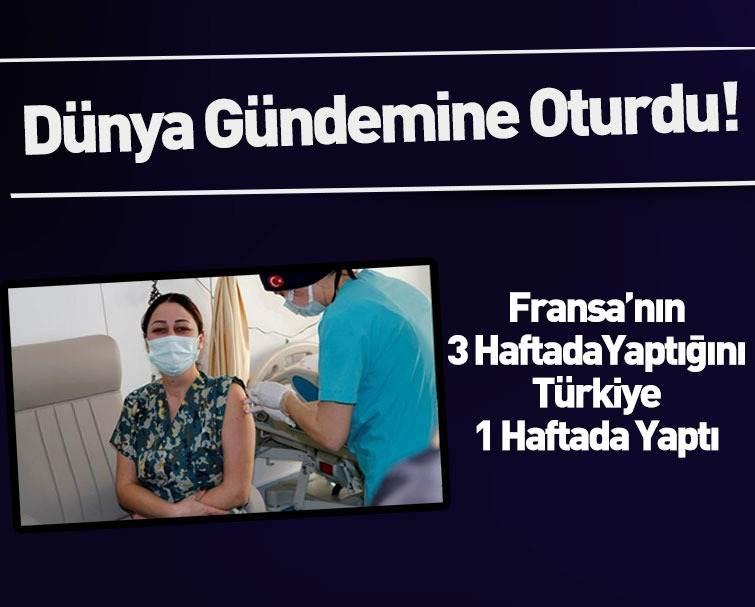 Dünya Türkiye'nin Aşı Programındaki Başarısını Konuşuyor