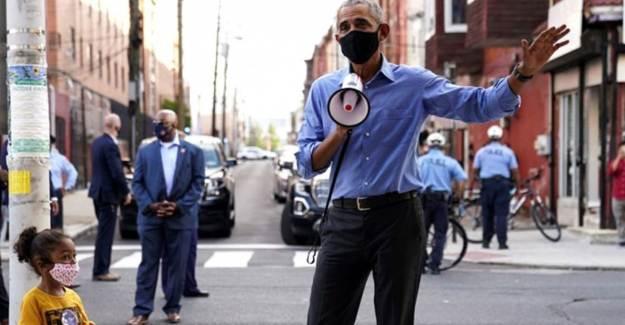 Eski ABD Başkanı Obama, Megafonla Biden'a Oy İstedi