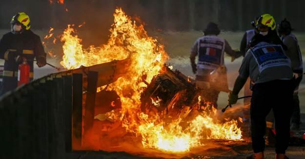F1 Pilotu Romain Grosjean'in Hayatını Halo Teknolojisi Kurtarmış