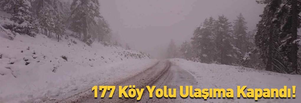 Sivas'ta 177 Köy Yolu Ulaşıma Kapandı!
