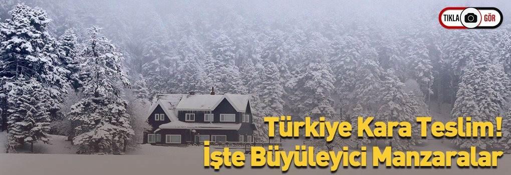 Türkiye'den Büyüleyici Kar Manzaraları