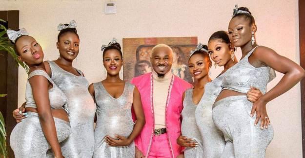Kendisinden Hamile 6 Kadınla Birlikte Poz Verdi