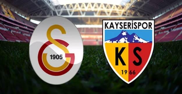 Maç Sona Erdi! Galatasaray 1-1 Kayserispor