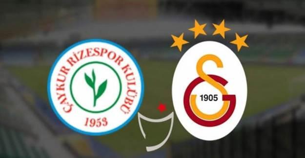 Goool! Çaykur Rizespor 0-3 Galatasaray