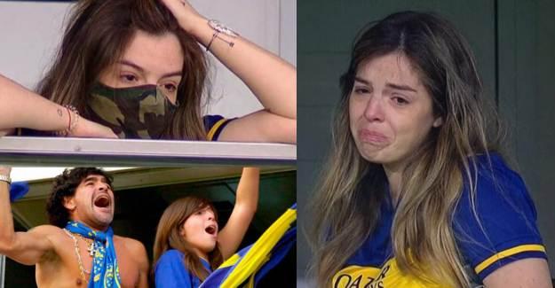 Maradona'nın Kızı Gözyaşlarına Boğuldu