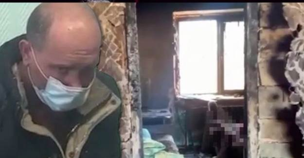 Sibirya'da Sinirlenip Evi Yakan Baba Evlat Katili Oldu