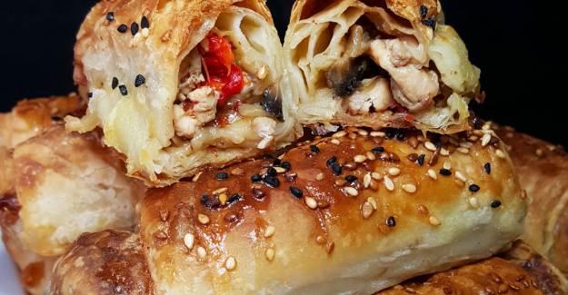 Tavuklu Mantarlı Çıtır Börek Nasıl Yapılır? Tavuklu Mantarlı Börek Tarifi