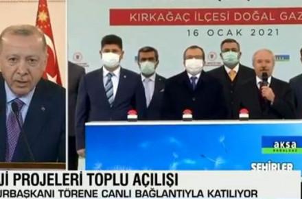 Cumhurbaşkanı Erdoğan, Açılışta Konuşmak İsteyen İsmi Uyardı
