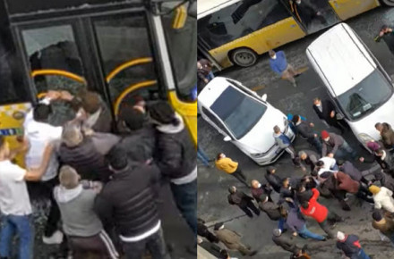 İETT Şoförünü Bir Grup Saldırgan Dövdü